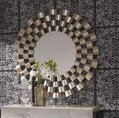 Buy Large Round Silver Modern Mirror online now, with Free UK Delivery Large Round Mirror, Round Wall Mirror, Round Mirrors, Mirror Wall Art, Diy Mirror, Mirror Hanging, Mirror Ideas, Spiegel Design, Ornaments