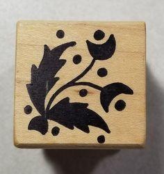 Deco Flowers #2 Rubber Stamp Magenta #28016E #Magenta #Background