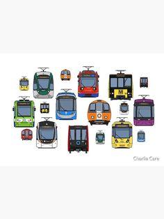 Train Drawing, Light Rail, Cotton Tote Bags, Britain, My Arts, Design