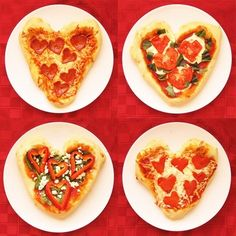 heart shaped pizza valentines day