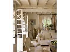 Gustavian furnishings in a French farmhouse. Sigh.