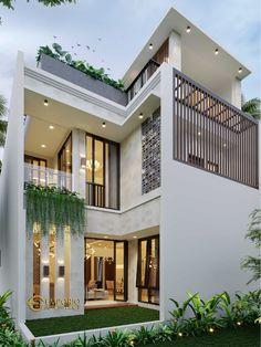 Bungalow House Design, House Front Design, House Design Photos, Small House Design, Modern House Design, Bedroom Minimalist, Minimalist House Design, Minimalist Garden, Home Building Design