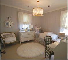 Sally Wheat Interiors, gray girl's bedroom