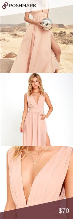 Heavenly hues blush lulus bridesmaid dress Brand new dress for bridesmaid or any other type of occasion Lulu's Dresses Wedding