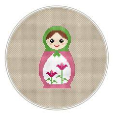 Russian Doll cross stitch pattern, Instant Download, Free shipping, Cross-Stitch PDF, Matryoshka, Nesting Doll, MCS092 by MagicCrossStitch on Etsy https://www.etsy.com/listing/234752818/russian-doll-cross-stitch-pattern