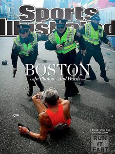 Fallen runner Bill Iffrig is on the cover of the new Sports Illustrated in the wake of the Boston Marathon bombings. #BostonMarathon #Boston