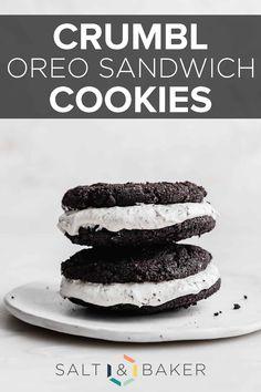 Oreo Cookie Butter, Homemade Oreo Cookies, Oreo Cookie Recipes, Cookie Dough, Dessert Recipes, Desserts, Yummy Cookies, Crumble Cookie Recipe, Soft Cookie Recipe