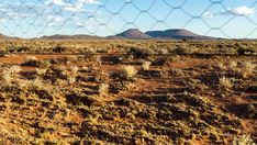 A static timelapse of a typical Karoo landscape, late afternoon with a blue sky and scattered clouds, shot through a fence with a slow focus pull. Windmill, Geology, Stock Footage, South Africa, Fence, African, Clouds, Sky, Landscape