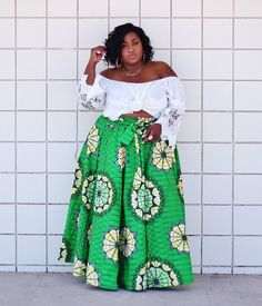 Plus Size Fashion - Ankara African Print Skirt