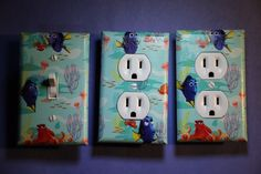 Finding Dory Nemo 3 pc Set Light Switch Cover girls boys kids room child decor #Unbranded