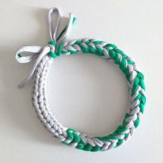 Girocollo multifilo grigio e verde| raperonzolo
