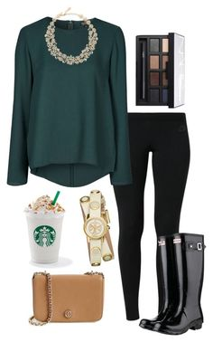 """Ootd 11/17/15"" by madelyn-abigail ❤ liked on Polyvore featuring NIKE, Topshop, Kate Spade, Tory Burch, NARS Cosmetics and Hunter"