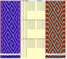 30 tarjetas 4 colores, repite cada 16 movimientos// sed_800 diseñado en GTT༺❁