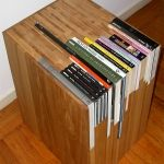 Sleek design-how are your coffee table books displayed (with dust?) Customized book side tables