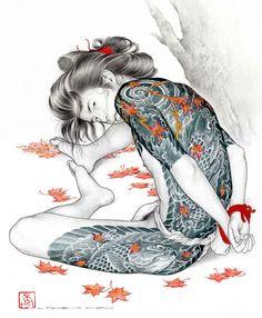 Shibari art, by Hideki Koh