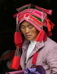 Foto Huayao Yi hoofddeksel, Yunnan Jacqueline Sprey
