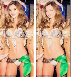 No one ever slammed a supermodel for using Photoshop. But what about this thing that Miranda Kerr just did. Miranda Kerr, Victoria Secret Fashion, Victorias Secret Models, Photoshop Fail, Celebrities Before And After, No One Is Perfect, Small Waist, Body Image, Real Women