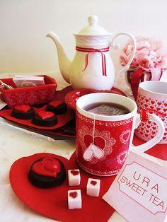 Red tea set. We love it!