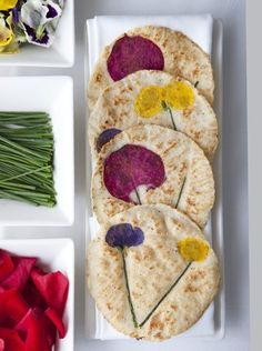 Tortillas Florales by Chef John Rivera Sedlart  ortillas with real flowers