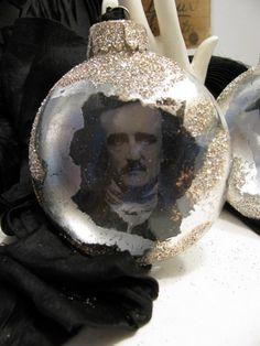 Edgar Allan Poe Ornament by ADoseOfAlchemy on Etsy
