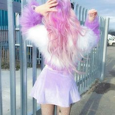 Harajuku Fashion, Kawaii Fashion, Cute Fashion, Fashion Outfits, Estilo Madison Beer, Mode Lolita, Indie, Pastel Fashion, Hair Color Dark