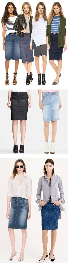 What I want for fall...the denim pencil skirt (she's back!)...Denim Skirts Make a Fashionable Comeback - YLF