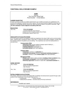 Resume Skills Samples Resume Examples Veterans  Pinterest  Resume Examples And Sample Resume