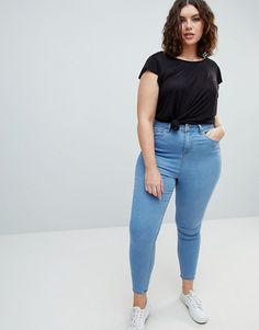 New Look Plus   New Look Curve Super Soft Skinny Jegging