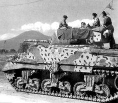 British Sherman near Vesuvius