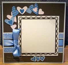 This is a 6x6 Scrapbook page that uses the Stampin' Up!® I {Heart} Hearts stamp set and coordinating punches.