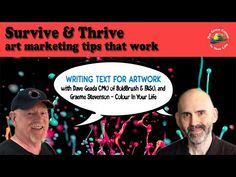 Coronavirus For Artists - Writing Text For Artwork with Dave Geada | Colour In Your Life - YouTube Selling Art, Art Market, Your Life, Artists, Colour, Writing, Marketing, Artwork, Youtube