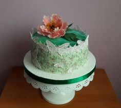 Peony cake Peony Cake, Butterfly Cakes, Peonies, Desserts, Food, Tailgate Desserts, Deserts, Essen, Postres