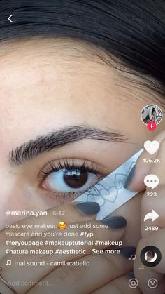 Basic Eye Makeup, Edgy Makeup, Makeup Eye Looks, Eye Makeup Steps, Eye Makeup Art, Natural Eye Makeup, Cute Makeup, Eyebrow Makeup, Skin Makeup