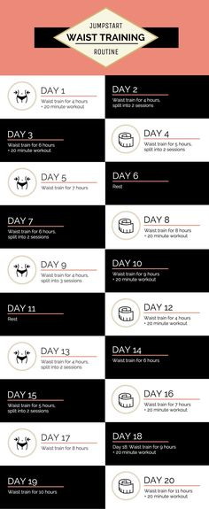 20 day waist training fitness plan