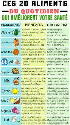 Les 20 meilleurs aliments du quotidien pour votre santé