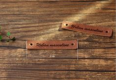 2 pieces of  faux leather label 44204 by cottonholic on Etsy, $3.20