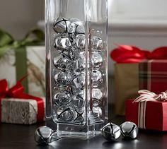 Silver Jingle Bells Vase Filler #potterybarn