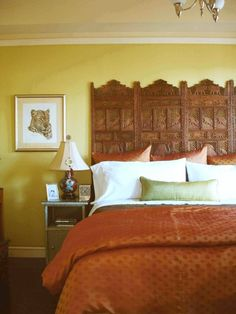floor screen as headboard