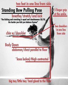 Standing Bow - Dandayamana-Dhanurasana #yogatutorial