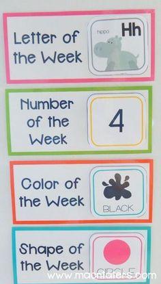 Circle Time Board #homeschoolingroomorganization