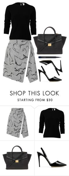 """""""Black pullover"""" by hotbabesonamission ❤ liked on Polyvore featuring Oscar de la Renta, Forever 21, STELLA McCARTNEY, MAC Cosmetics, women's clothing, women's fashion, women, female, woman and misses"""