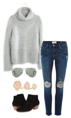 """""""grizzlies game tonight!!"""" by kcunningham1 ❤ liked on Polyvore featuring Madewell, Frame Denim, Ray-Ban, Jack Rogers, Kendra Scott, women's clothing, women's fashion, women, female and woman"""