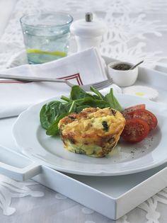Individual broccoli frittatas