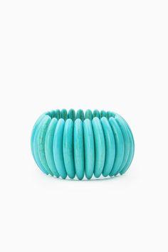 Turquoise Battle Bracelet / ShopSosie #turquoise #stretch #bracelet #shopsosie #sosie