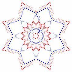 snowflakes crochet 121 schema