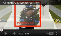 VIDEO: The History of Memorial Day http://www.teachervision.fen.com/memorial-day/video/73217.html President Barack Obama explains the origins of Memorial Day in this educational video. Students will learn about Memorial Day traditions and the Tomb of the Unknown Soldier. It's paired with three classroom activities for grades K-5. #MemorialDay