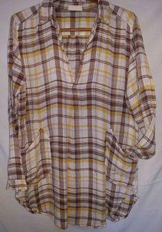 2e290c9bb050 CP SHADES Linen Teton Tunic Small 100% Linen w  Pockets White Shirt Dress  NWOT  CPShades  Tunic  Casual