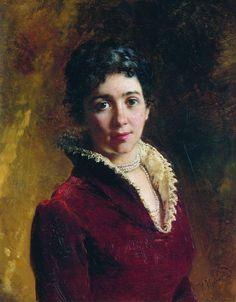 Female Portrait - Konstantin Makovsky