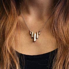 Bronze Peaks Necklace // Shipandshape.com