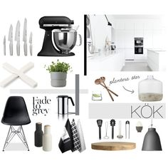 KITCHEN by emmadaisley on Polyvore featuring polyvore, interior, interiors, interior design, home, home decor, interior decorating, Lightyears, KitchenAid and Global
